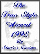 The True Style Award By Stacie's Designs